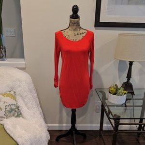 Lipstick Red Tunic with side rouching